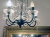 Lighting inside the changing rooms - a chandelier